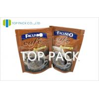 China Foil Plastic Packaging Bags Stand Up Coffee Bags With Zipper on sale