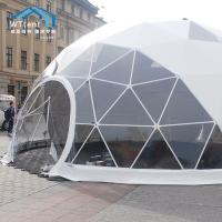 China 500 People Steel Geodesic Dome Tent , Interior Decoration Geodesic Event Domes on sale