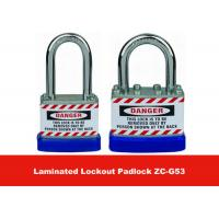 Wholesale 50mm Lock Body Width Blue Hardered Steel Laminated Safety Lockout Padlocks from china suppliers