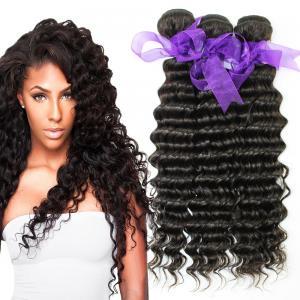 Wholesale Peruvian Deep Wave HairBundles No Shedding , Peruvian Hair Deep Body Wave from china suppliers