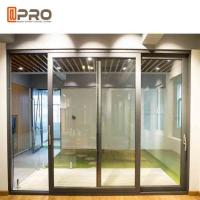 China Slim Frame Aluminium Sliding Doors , Soundproof Interior Sliding Glass Doors on sale