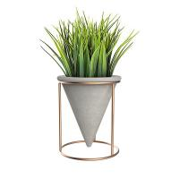 Wholesale Funnel Shaped Handmake Concrete Flower Vase Custom With Metal Holder from china suppliers