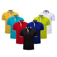 Wholesale Unbranded Dri Fit Polo Work Shirts , Bulk Polo Shirts Garments For Tennis Soprts from china suppliers
