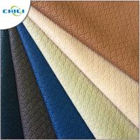 Wholesale Bag Making Quilted Leather Material, Faux Leather Sheets Woven Textured from china suppliers