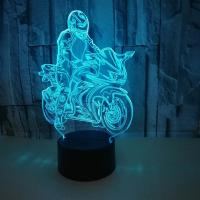 China Motorcycles USB 3D LED Table Lamp Remote Touch Night Light 7 Colors Changing Sleeping Lampe Light Motor Lamps For Gifts on sale