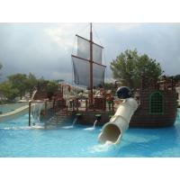 Pirate Ship Water Playground Equipment White Water Slides For Water Park