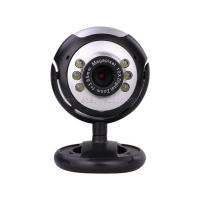 Wholesale Hot selling 6 LED Night vision webcam Manual focusing USB 2.0 for Desktop Laptop Computer Camera from china suppliers