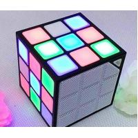 Wholesale Portable Led Speaker, Mini magic cube speaker with LED lights from china suppliers