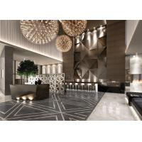 Contemporary Hotel Lobby Furniture Fabric Barstool With Bar Counter
