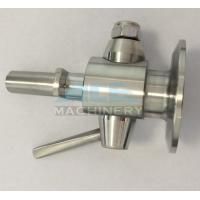 Quality Sanitary Stainless Steel Sample Valve with Tri Clamp Ends Perlick Sample Valve for sale
