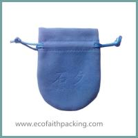 China velvet jewelry pouch wedding favor velvet jewelry pouch blue on sale