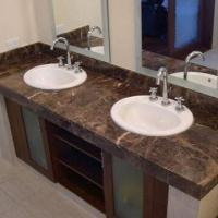Marble bathroom vanity top in dark emperador used for bathroom top and sink faucet 97235336 Used bathroom vanity with sink