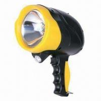 China Rechargeable Handheld Spotlight with Halogen Bulb and 6V/4Ah Lead-acid Battery on sale