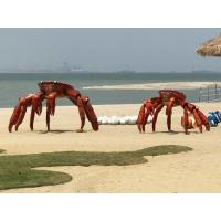 China Art Animal Crab Metal Sculpture Painted Color Surface As Outdoor Beach Decoration on sale