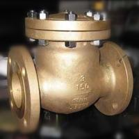 Wholesale Flap Type Bronze Swing Check Valve , Metal Seated Check Valve Integral Seat RF RTJ BW from china suppliers