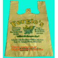 China Cheap vest carrier poly plastic bag, t-shirt bag made in China print 7 colors 2 sides on sale