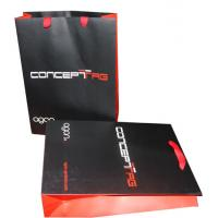 China Printed Polythene Carrier Bags Matt Coated , Rope Handle Carrier Bags on sale