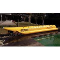 Giant Complete Yellow Inflatable Banana Boats Fly Fishing Boats With CE for sale