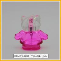 China Doll Shape Art Glass Perfume Bottles with Pump Sprayer 15ml on sale