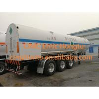 Wholesale 23.4 m3 26.7 tons Cryogenic Transportation Semi-trailer 26m3 liquid oxygen tank transport trailer from china suppliers