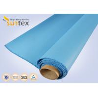 Wholesale 0.8 Mm Or OEM Blue Fire / Heat Resistant Fiberglass Cloth To Europe 1000 G/Sqm from china suppliers