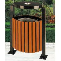 Wholesale Wood Outdoor Rubbish Bin with Flame-retardant Inner Barrel HA-14806 from china suppliers