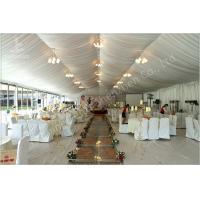Wholesale 350 Seater Wedding Reception Marquee Banquet Tent Rental With Clear Glass Walls from china suppliers