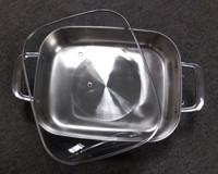 China No Stick Stainless Steel Electric Frying Pan With Glass Cover , 305X380mm Size on sale