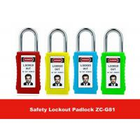 Wholesale 75mm Long Lock Body Colorful Isolation ABS Safety Lockout Padlocks with Keyed Alike from china suppliers
