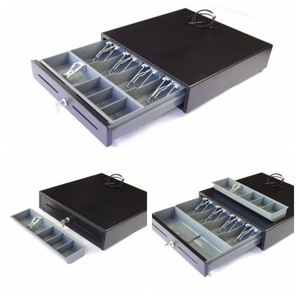 Cash drawer money storage box plastic cash tray two media for Money storage box