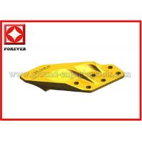 Yellow Excavator Bucket Side Cutters For Hitachi / Doosan / Fabco / Fiat Manufactures