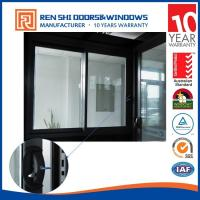 China AS2047 standard fire rated glaze aluminum sliding window with security bars on sale