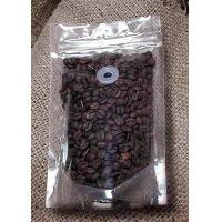 Wholesale Food Packing Transparent Coffee Bean Zipper Plastic Bag With Valve Custom Made from china suppliers