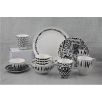 Wholesale 20pcs Geometry New Bone China Crockery Dinner Set For Restaurant Hotel from china suppliers