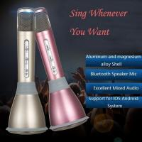 Wholesale Wireless Karaoke Microphone,1000mAh Portable Built-in Bluetooth Speaker from china suppliers
