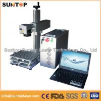 Wholesale 20W portable fiber laser marking machine for plastic PVC data matrix and barcode from china suppliers