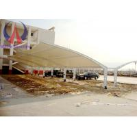 Fabric Membrane Vehicle Parking Sheds Outside Shade Structures Wind Resistance