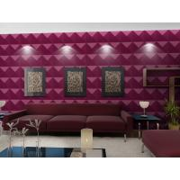 Luxury Living Room 3D Wall Coverings / Wall Art 3D Wall Panels with Plant Fiber 500*500 mm Manufactures
