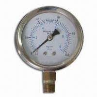 Wholesale Pressure Gauge with 1.5 Accuracy and Steel-plated Thread from china suppliers