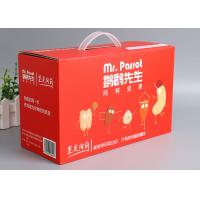 Wholesale Offset Printing Corrugated Packaging Box F - Flute Any Size With Plastic Handle from china suppliers