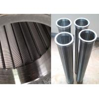 """120MM Wire Mesh Filter For Water Pretreatment / Johnson Wedge Wire Screen With Double """"O"""" End"""
