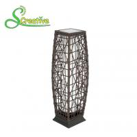 Wholesale Waterproof Rattan Outdoor Solar Lights , Tall Wicker Solar Floor Lamp With Battery from china suppliers