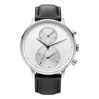 Wholesale CD Grain Face Quartz Silver Stainless Steel Watch Sr626sw With Black Leather Strap from china suppliers
