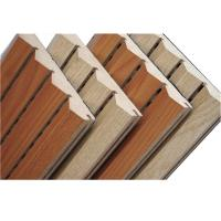 Wholesale Customized Veneer Finished Wooden Grooved Acoustic Panel Soundproof for Office Building from china suppliers