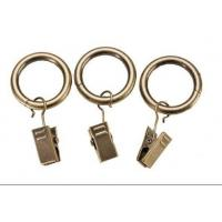 Wholesale Iron curtain pole rings with clips from china suppliers