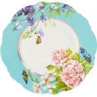 Wholesale Delicate Ceramic Dessert Plates , Waving Shape Floral Dessert Plates For Wedding from china suppliers