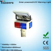 Wholesale New Design LED Solar Powered Warning Flshing Light from china suppliers