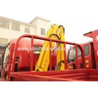 China Construction Light Duty Commercial Trucks / Light Cargo Truck With 3 Tons Crane on sale