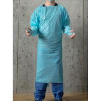 Wholesale Blue 30-100g Disposable PPE Gown , CPE Surgical Gown , surgical Gown with thumb loop cuff from china suppliers