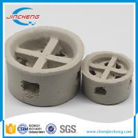 China Acid Resistant Ceramic Random Packing / Cascade Mini Rings For Cooling Tower on sale